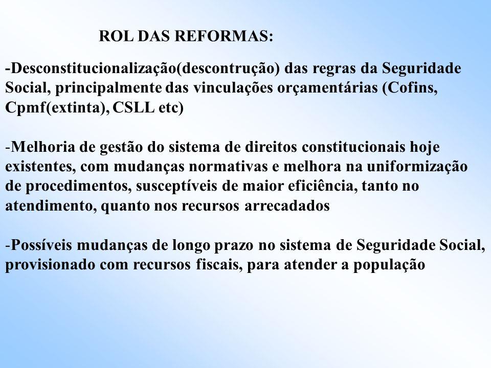 CAUSAS ( DISCURSO DOMINANTE) -Fatores demográficos – envelhecimento da população -Critérios brandos de acesso aos benefícios - Elevação real do salári