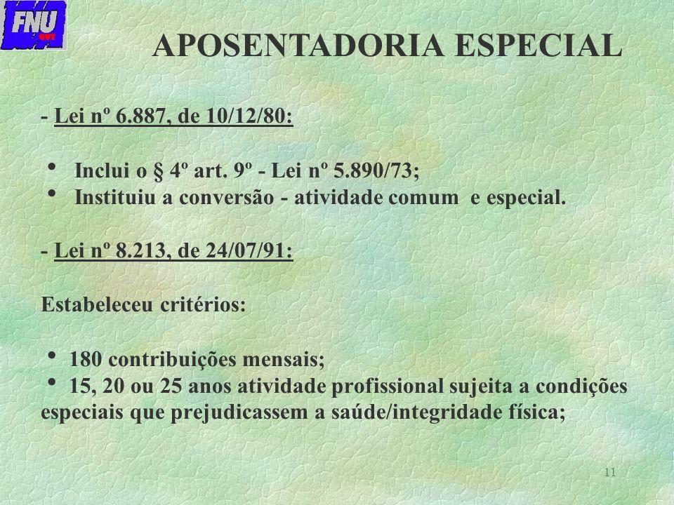 11 - Lei nº 6.887, de 10/12/80: Inclui o § 4º art.