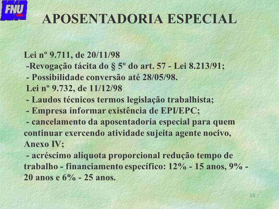 18 Lei nº 9.711, de 20/11/98 -Revogação tácita do § 5º do art.