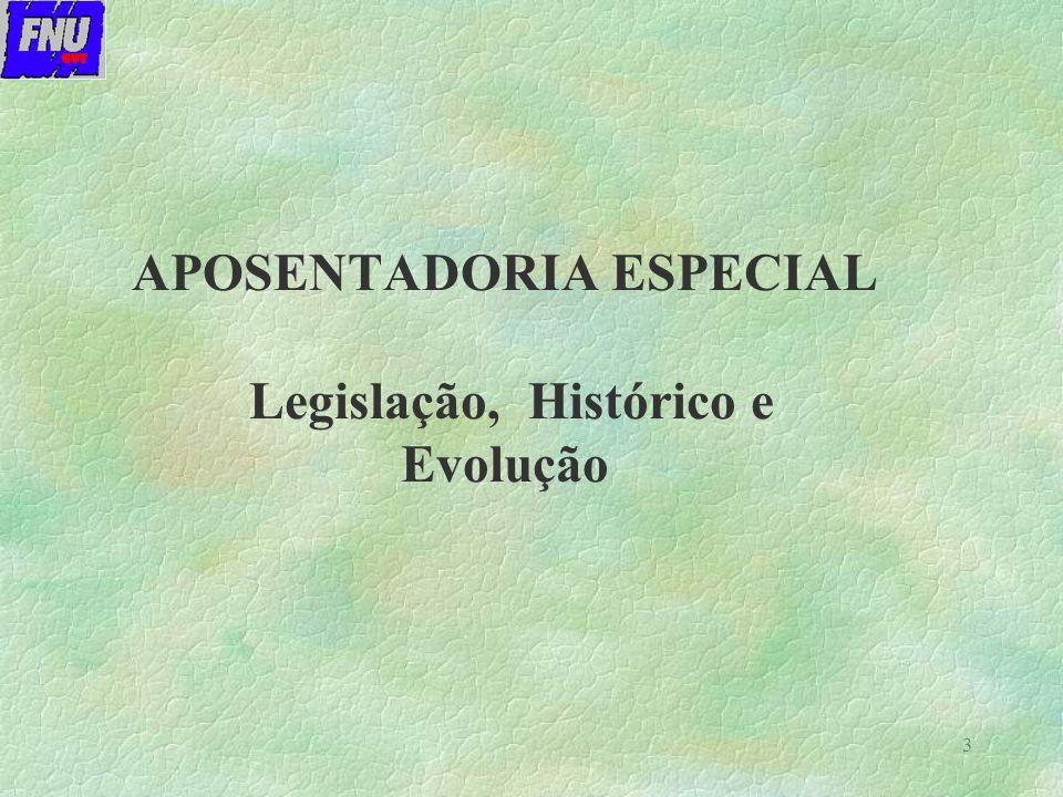 4 APOSENTADORIA ESPECIAL ESPÉCIE 46 BENEFÍCIO COM CARACTERÍSTICAS DE PREVENÇÃO