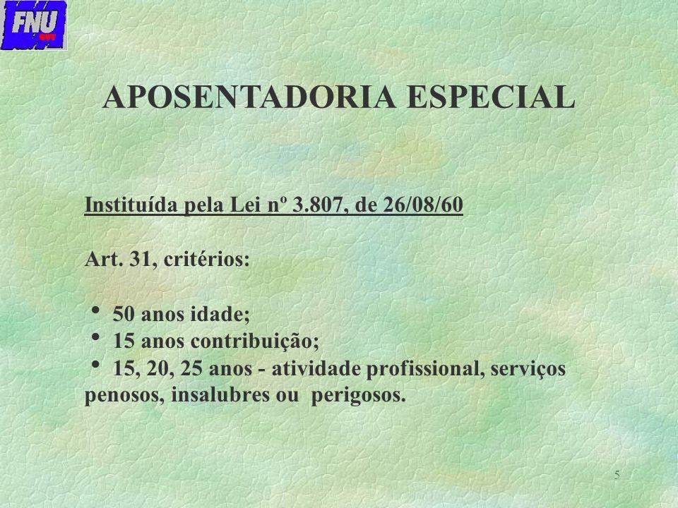 5 Instituída pela Lei nº 3.807, de 26/08/60 Art.