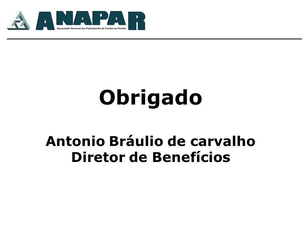 Obrigado Antonio Bráulio de carvalho Diretor de Benefícios