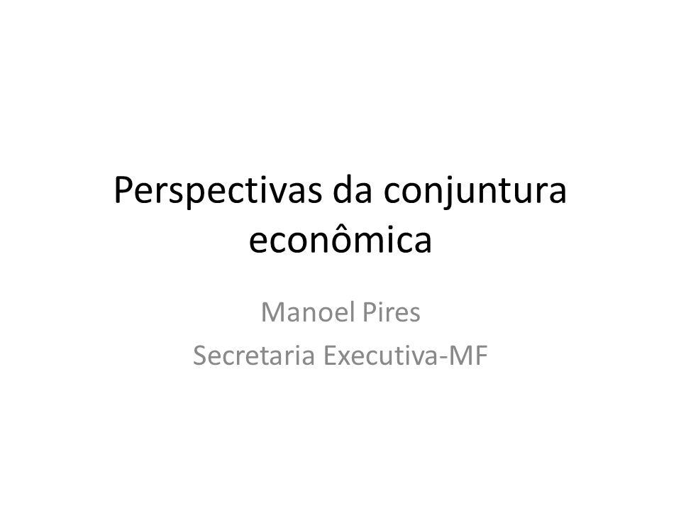 Perspectivas da conjuntura econômica Manoel Pires Secretaria Executiva-MF