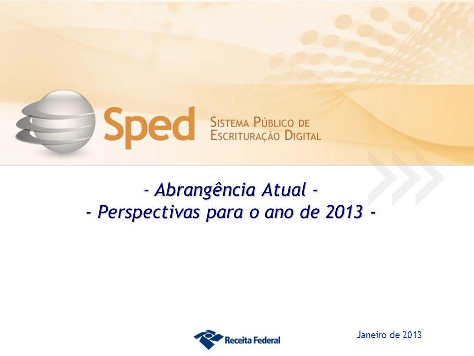 - Abrangência Atual - - Perspectivas para o ano de 2013 - Janeiro de 2013