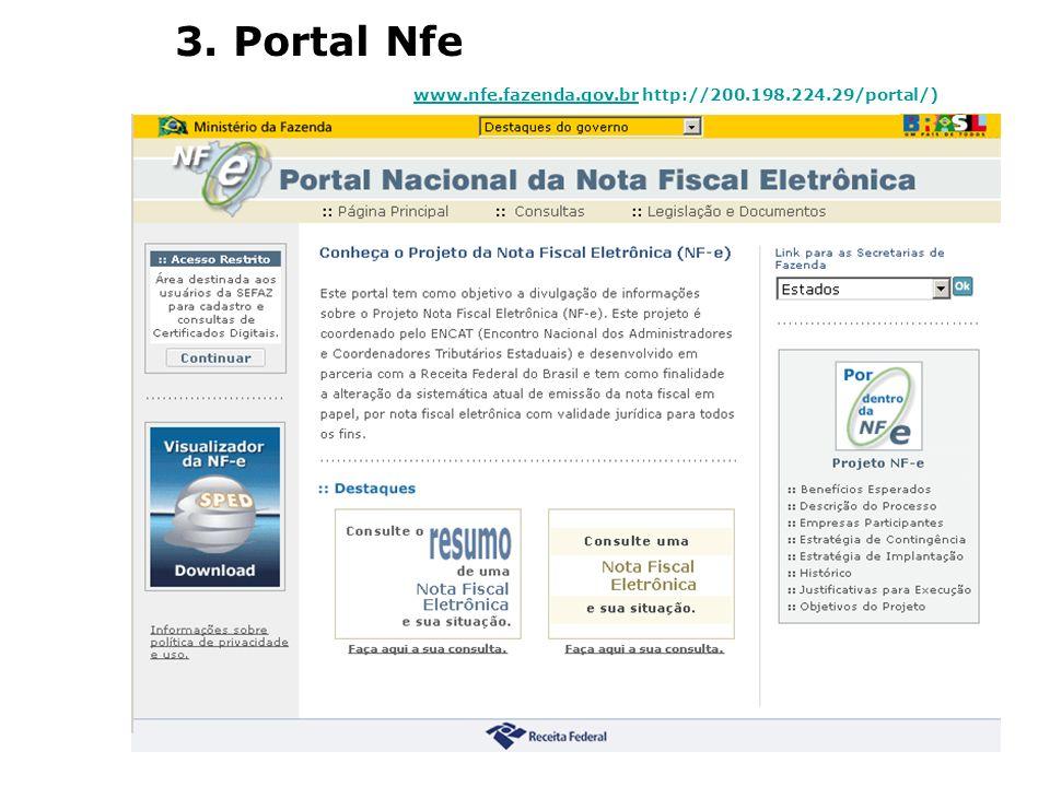 3. Portal Nfe www.nfe.fazenda.gov.brwww.nfe.fazenda.gov.br http://200.198.224.29/portal/)