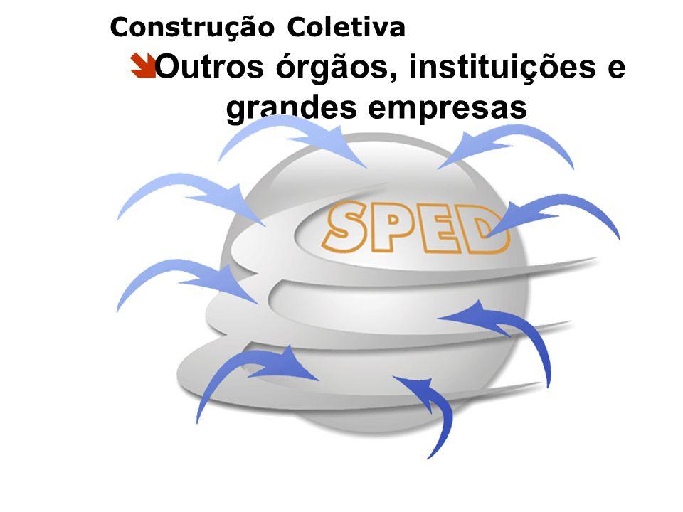Outros órgãos, instituições e grandes empresas Construção Coletiva