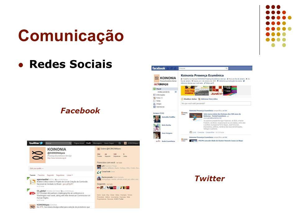 Comunicação Redes Sociais Facebook Twitter