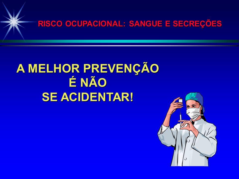 ACIDENTES COM MATERIAL BIOLÓGICO HOSPITAL SÃO PAULO - JAN 1994 A JUN 2000 n= 1767 (continuação) FONTE : COMISSÃO DE EPIDEMIOLOGIA HOSPITALAR - HOSPITA