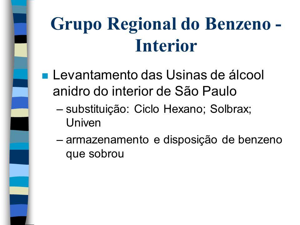 Grupo Regional do Benzeno na Baixada Santista n Reunião para formação do Grupo Regional da Baixada Santista em 31/08/2000 em Santos no Sindicato dos P