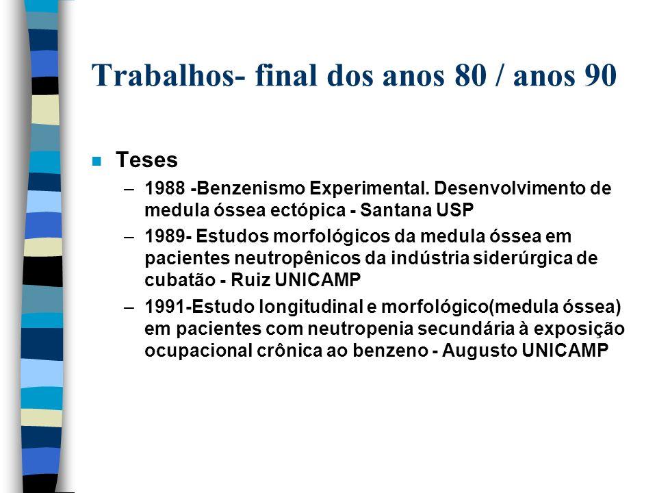 Eventos - final dos anos 80 /ínicio 90 n Sindicatos: –encontros de trabalhadores do setor siderúrgico,químico e petroquímico(Volta Redonda- RJ/1987;Ou