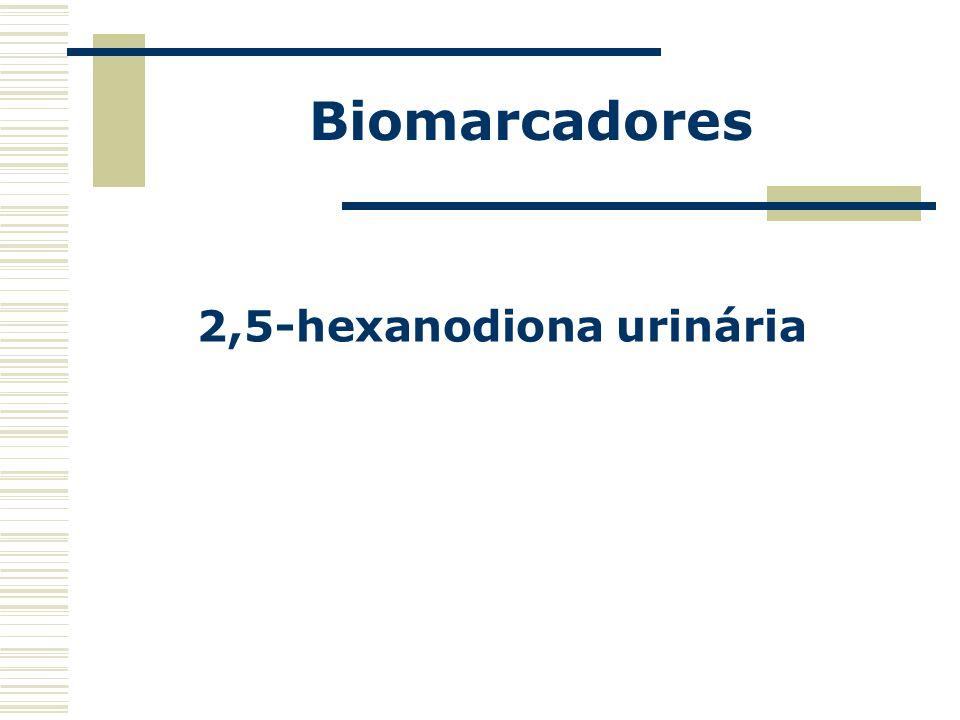 Biomarcadores 2,5-hexanodiona urinária