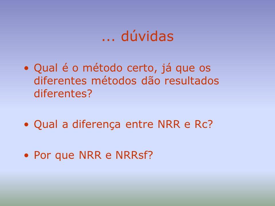 Rc/NRR Raio-X da metodologia –o ruido é representado inicialmente por um ruído rosa (mesmo nível por bandas) –o espectro médio de ruídos industriais (em termos do estimador C-A) é deduzido de dois desvios padrão –com essa correção (3 dB), a salvaguarda introduzida significa que o espectro assumido é o pior possível, cobrindo 98% dos casos industriais