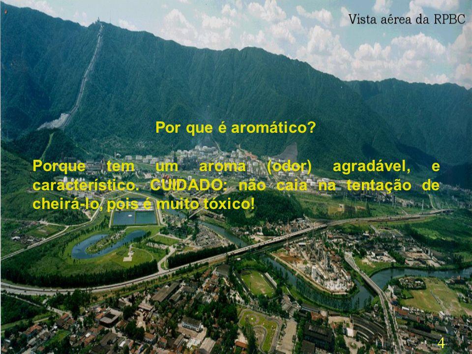 14 No Brasil, existem três petroquímicas ( COPENE,localizada em Camaçari/Bahia – COPESUL, em Triunfo /RS e Petroquímica União, em Santo André/SP) e uma refinaria de petróleo (da PETROBRÁS, - Refinaria Presidente Bernardes, de Cubatão (RPBC)) que produzem benzeno.