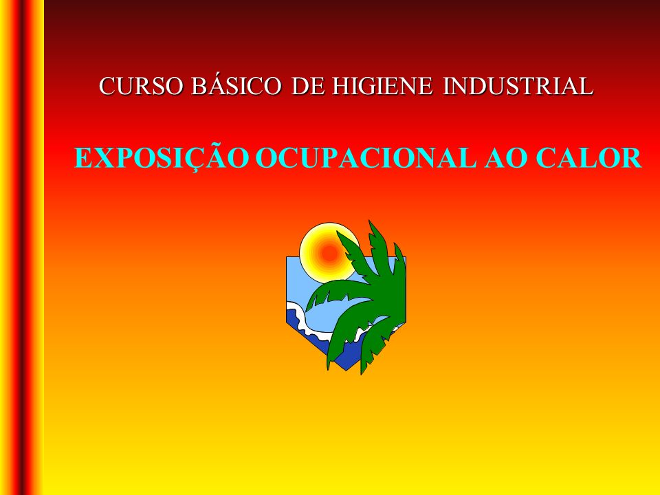 EXPOSIÇÃO OCUPACIONAL AO CALOR CURSO BÁSICO DE HIGIENE INDUSTRIAL