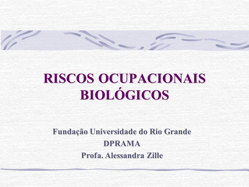 RISCOS OCUPACIONAIS BIOLÓGICOS Fundação Universidade do Rio Grande DPRAMA Profa. Alessandra Zille