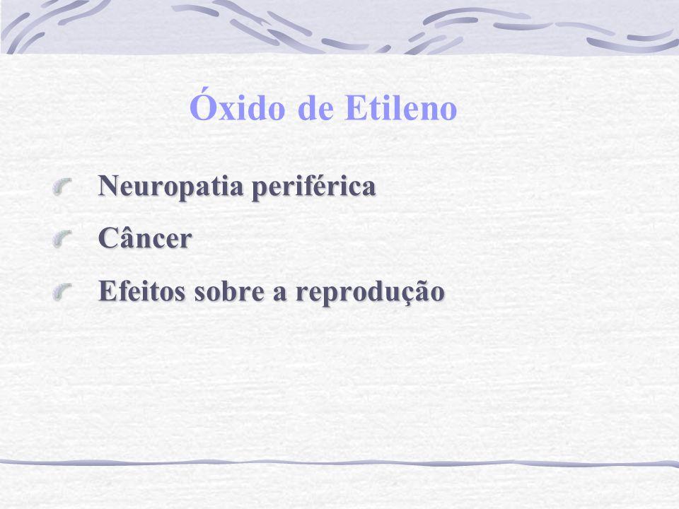 Óxido de Etileno Neuropatia periférica Câncer Efeitos sobre a reprodução