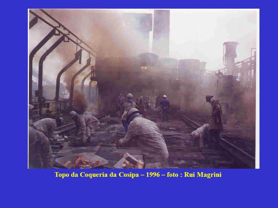 Topo da Coqueria da Cosipa – 1996 – foto : Rui Magrini