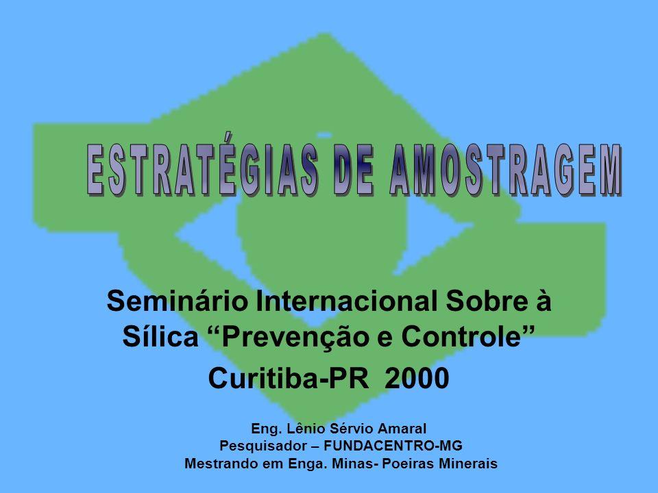 Seminário Internacional Sobre à Sílica Prevenção e Controle Curitiba-PR 2000 Eng. Lênio Sérvio Amaral Pesquisador – FUNDACENTRO-MG Mestrando em Enga.