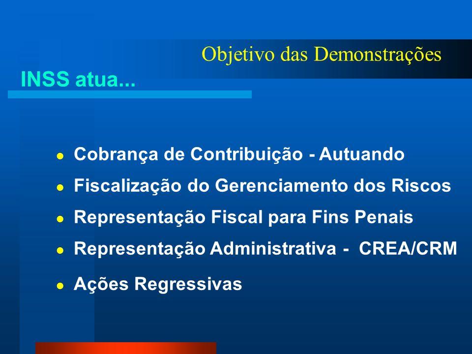 Objetivo das Demonstrações INSS atua... Manutenção Financeira (Temporária /Permanente) Indenização Lesão Incapacitante Permanente Reabilitação Profiss
