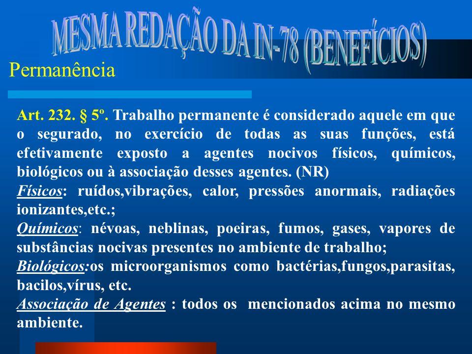 Requisitos Demonstrações LTCAT: (NR-09) art.