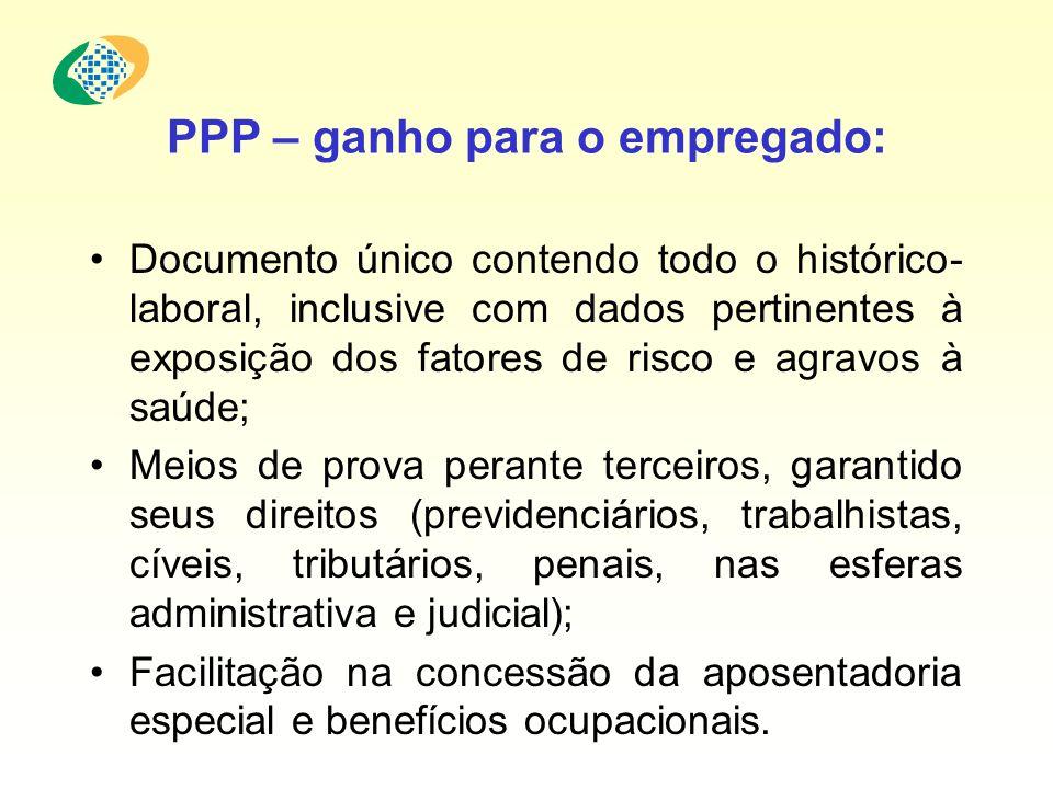 PPP – ganho para o empregado: Documento único contendo todo o histórico- laboral, inclusive com dados pertinentes à exposição dos fatores de risco e a