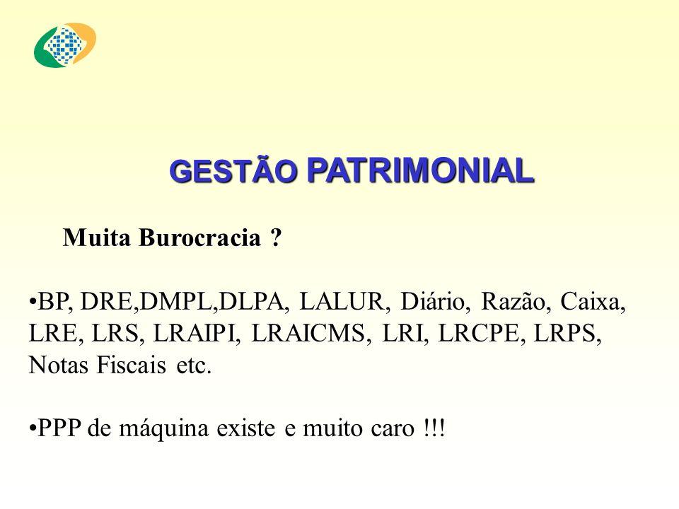 GESTÃO HOMINAL GESTÃO HOMINAL Muita Burocracia .