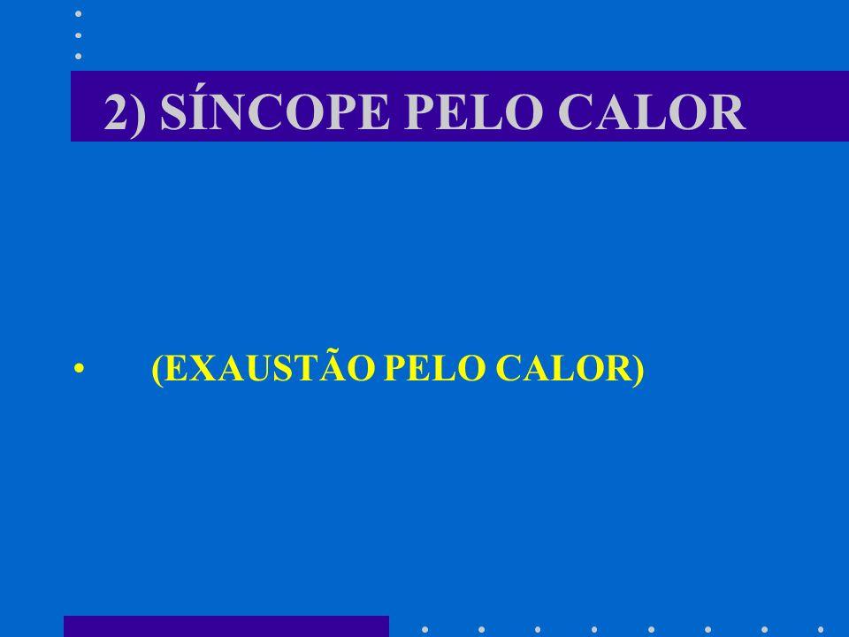 2) SÍNCOPE PELO CALOR (EXAUSTÃO PELO CALOR)