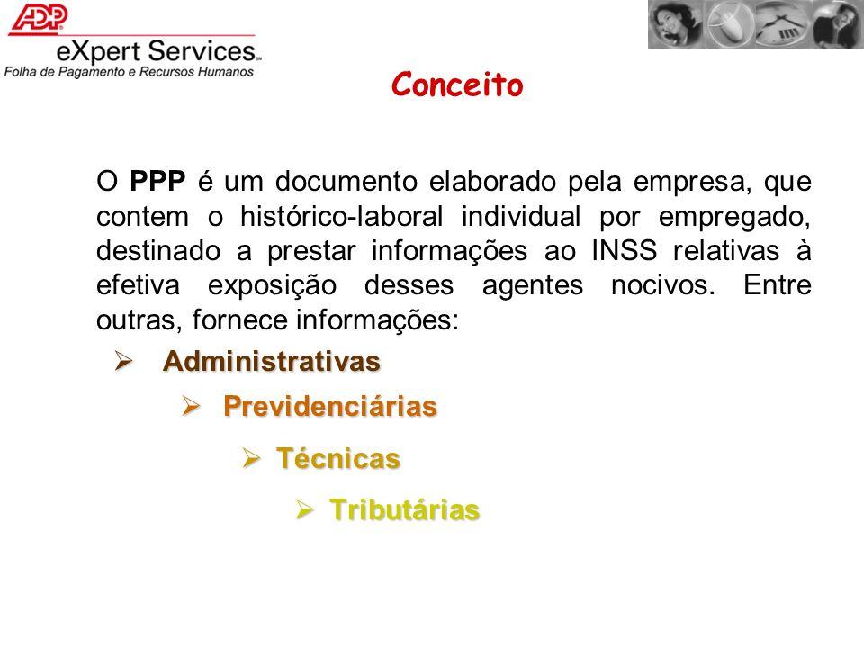 O PPP é um documento elaborado pela empresa, que contem o histórico-laboral individual por empregado, destinado a prestar informações ao INSS relativa