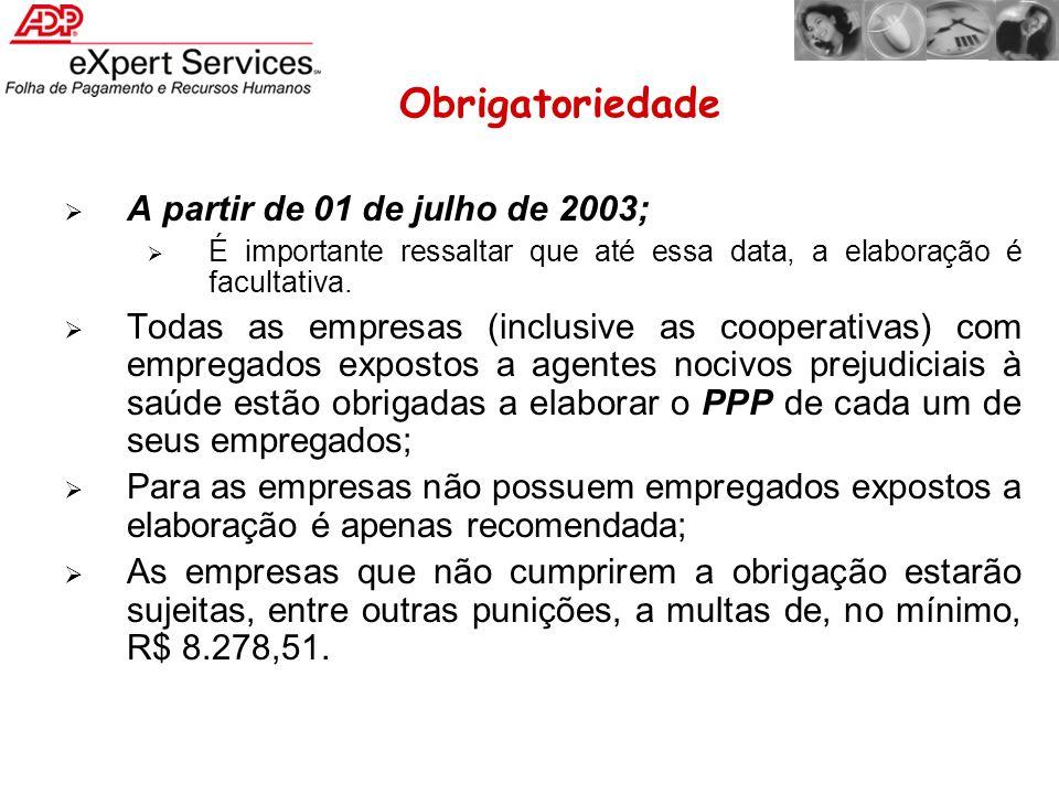 A partir de 01 de julho de 2003; É importante ressaltar que até essa data, a elaboração é facultativa. Todas as empresas (inclusive as cooperativas) c