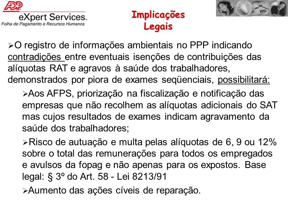 O registro de informações ambientais no PPP indicando contradições entre eventuais isenções de contribuições das alíquotas RAT e agravos à saúde dos t