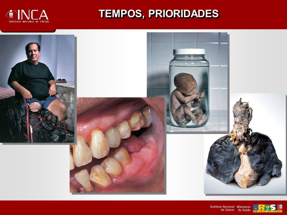 TEMPOS - PRIORIDADES Compatibilizar identidade, organização e estrutura institucional do INCA para a ação coordenada que o controle do Câncer requer