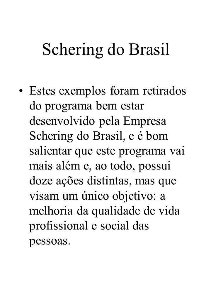 Schering do Brasil Estes exemplos foram retirados do programa bem estar desenvolvido pela Empresa Schering do Brasil, e é bom salientar que este progr