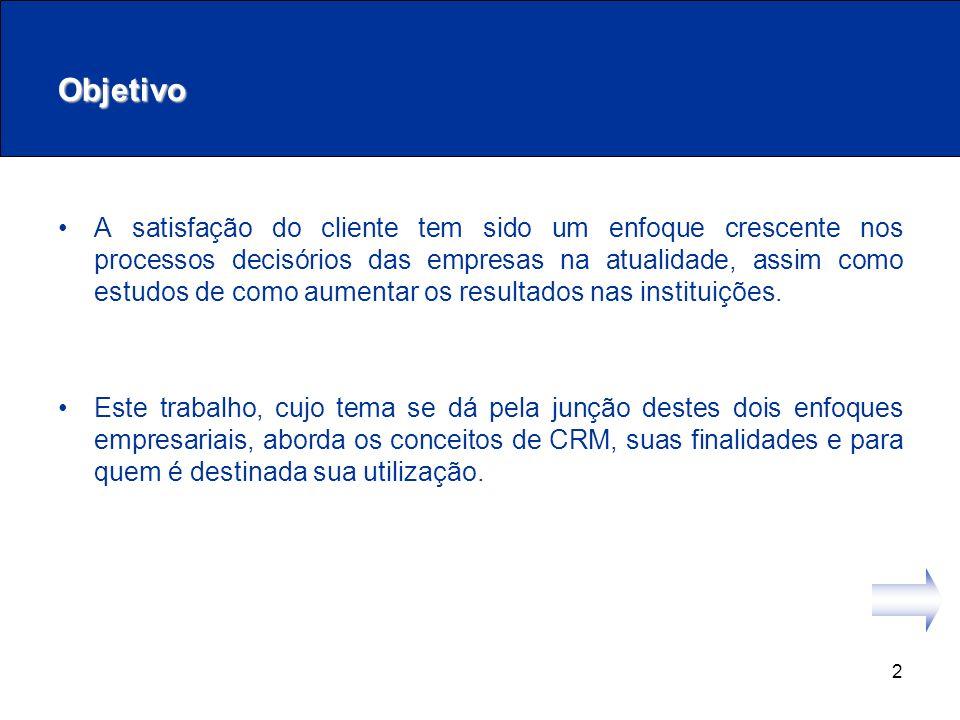 13 Seu Alvo Muitos acreditam que o CRM é considerado aplicável apenas às empresas que se relacionam com consumidores finais.