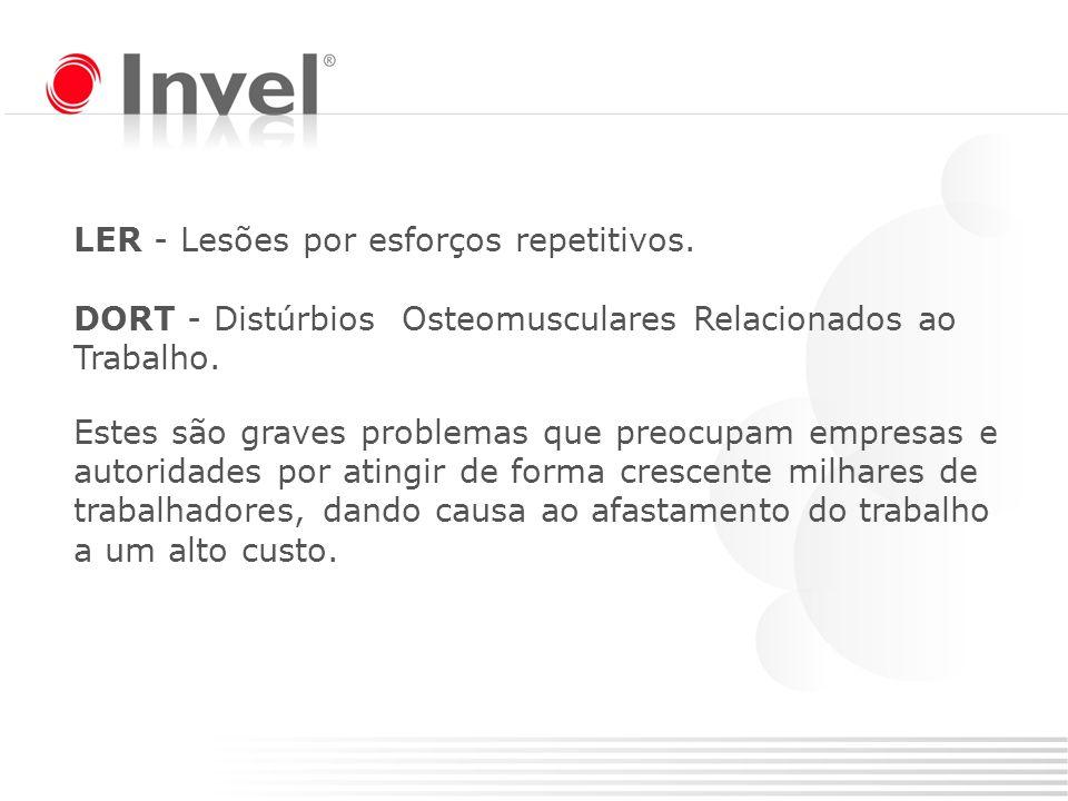 LER / DORT representa quase 70% do conjunto das doenças profissionais registradas no Brasil.