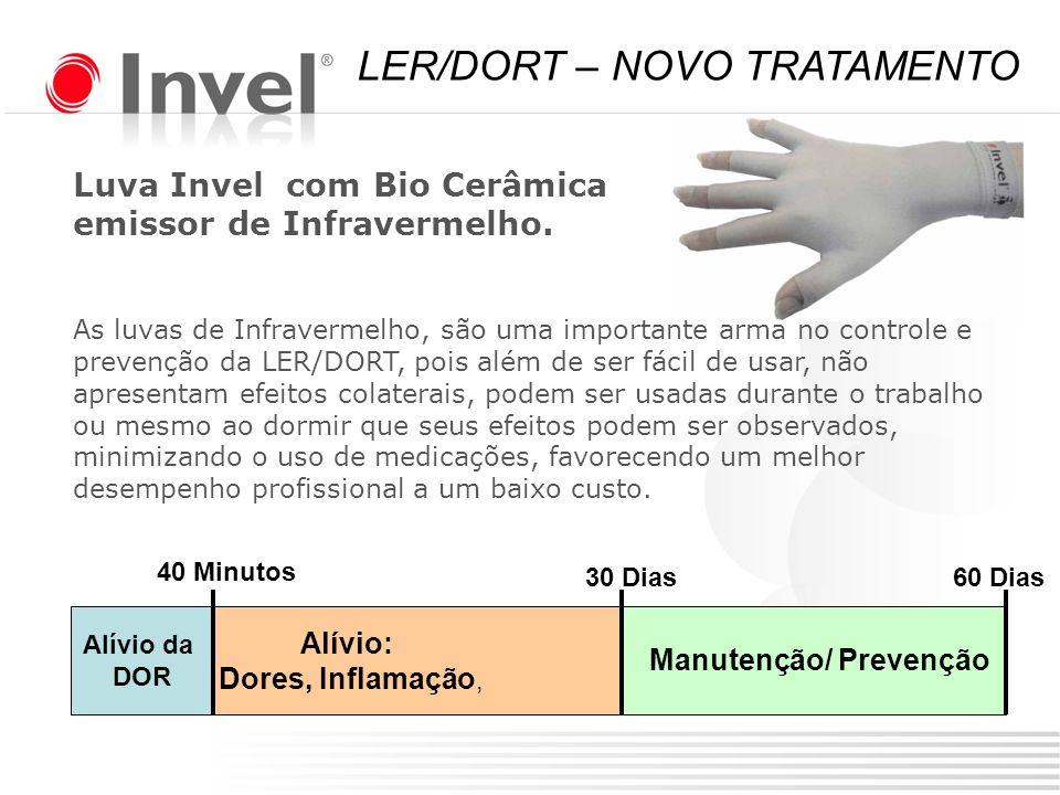 Luva Invel com Bio Cerâmica emissor de Infravermelho. As luvas de Infravermelho, são uma importante arma no controle e prevenção da LER/DORT, pois alé