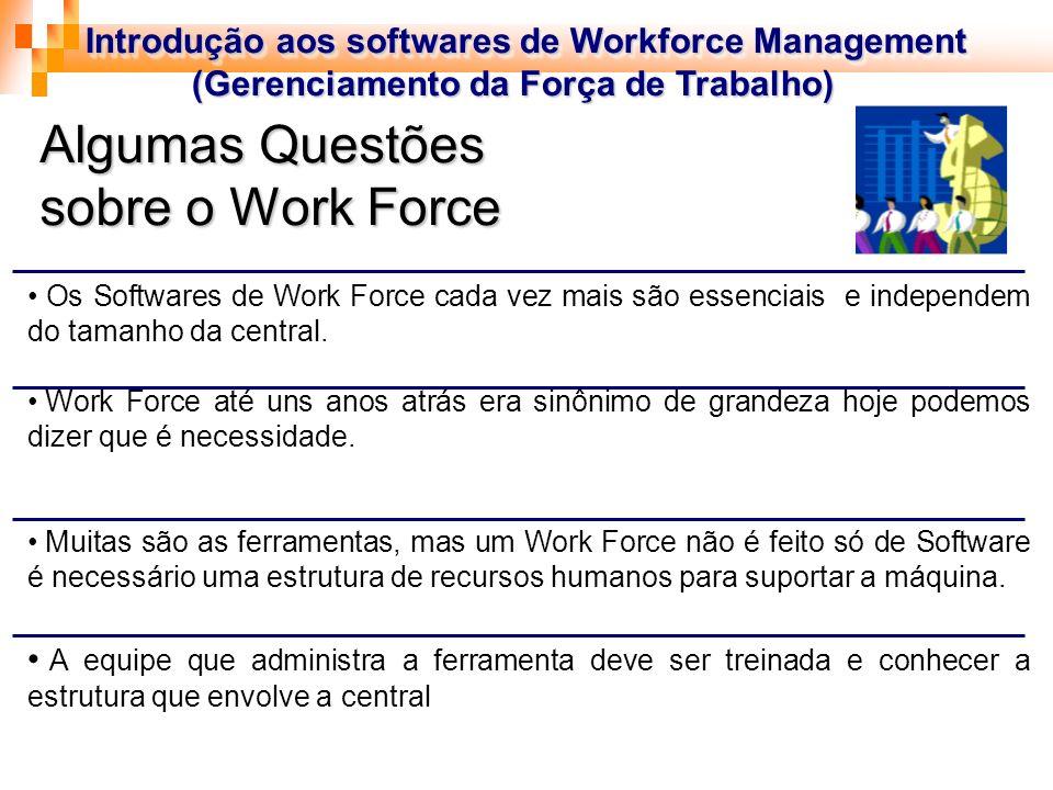 Introdução aos softwares de Workforce Management (Gerenciamento da Força de Trabalho) (Gerenciamento da Força de Trabalho) Introdução aos softwares de