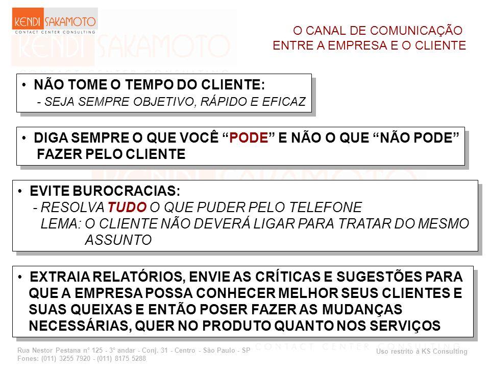 Uso restrito à KS Consulting Rua Nestor Pestana n° 125 - 3° andar - Conj. 31 - Centro - São Paulo - SP Fones: (011) 3255 7920 - (011) 8175 5288 O CANA
