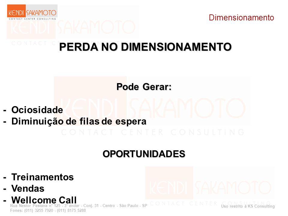 Uso restrito à KS Consulting Rua Nestor Pestana n° 125 - 3° andar - Conj. 31 - Centro - São Paulo - SP Fones: (011) 3255 7920 - (011) 8175 5288 PERDA