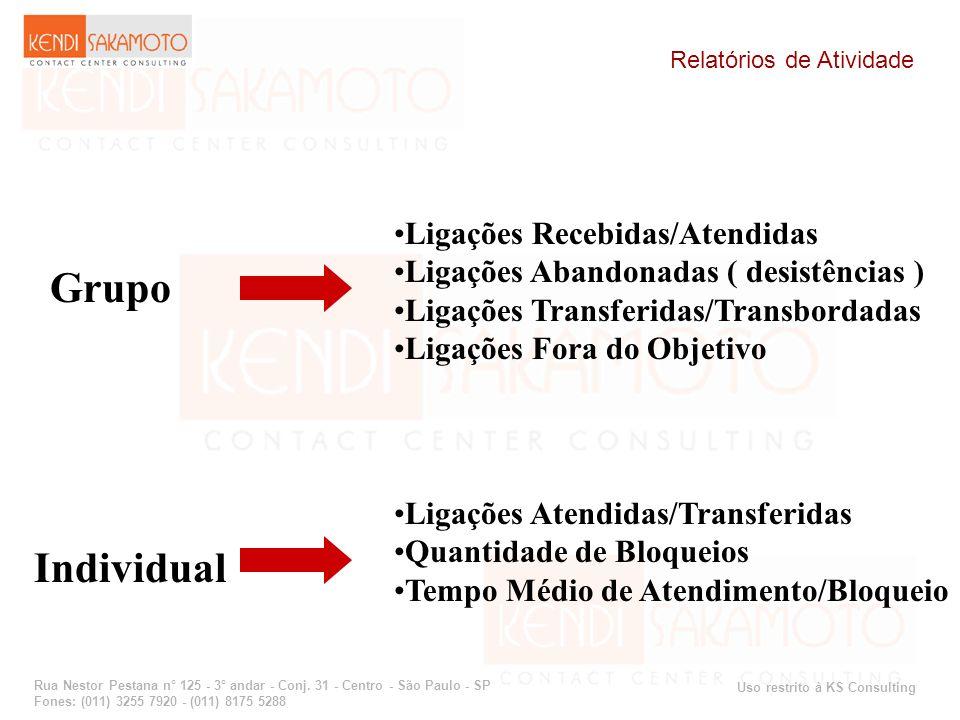 Uso restrito à KS Consulting Rua Nestor Pestana n° 125 - 3° andar - Conj. 31 - Centro - São Paulo - SP Fones: (011) 3255 7920 - (011) 8175 5288 Relató