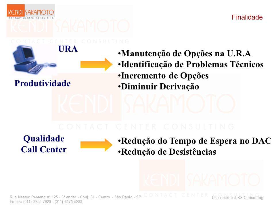 Uso restrito à KS Consulting Rua Nestor Pestana n° 125 - 3° andar - Conj. 31 - Centro - São Paulo - SP Fones: (011) 3255 7920 - (011) 8175 5288 Finali