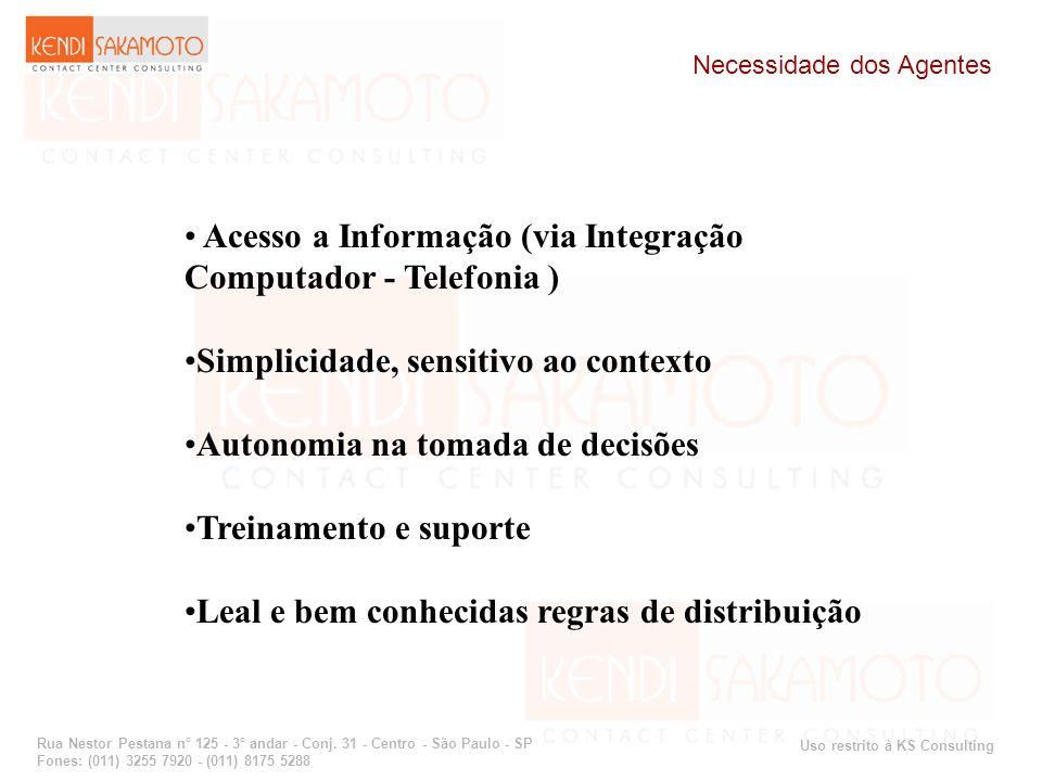 Uso restrito à KS Consulting Rua Nestor Pestana n° 125 - 3° andar - Conj. 31 - Centro - São Paulo - SP Fones: (011) 3255 7920 - (011) 8175 5288 Necess