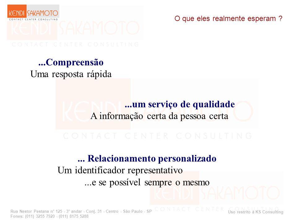 Uso restrito à KS Consulting Rua Nestor Pestana n° 125 - 3° andar - Conj. 31 - Centro - São Paulo - SP Fones: (011) 3255 7920 - (011) 8175 5288 O que