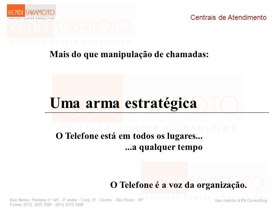 Uso restrito à KS Consulting Rua Nestor Pestana n° 125 - 3° andar - Conj. 31 - Centro - São Paulo - SP Fones: (011) 3255 7920 - (011) 8175 5288 Centra