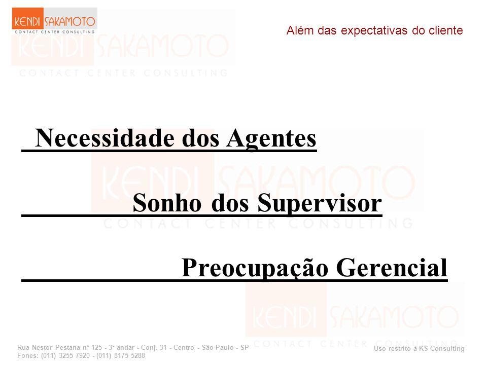 Uso restrito à KS Consulting Rua Nestor Pestana n° 125 - 3° andar - Conj. 31 - Centro - São Paulo - SP Fones: (011) 3255 7920 - (011) 8175 5288 Além d