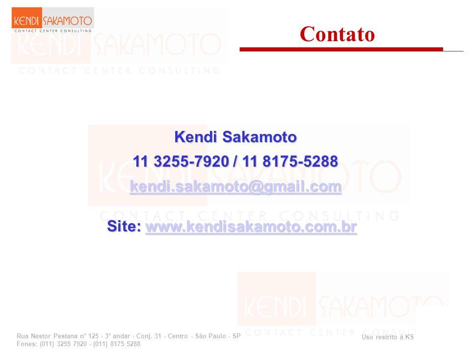 Uso restrito à KS Consulting Rua Nestor Pestana n° 125 - 3° andar - Conj. 31 - Centro - São Paulo - SP Fones: (011) 3255 7920 - (011) 8175 5288 Contat