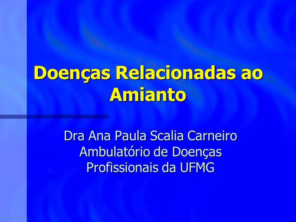 Doenças Relacionadas ao Amianto Dra Ana Paula Scalia Carneiro Ambulatório de Doenças Profissionais da UFMG