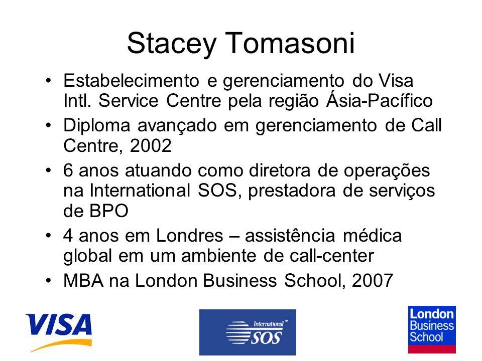 Stacey Tomasoni Estabelecimento e gerenciamento do Visa Intl.