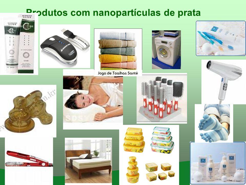 Produtos com nanopartículas de prata