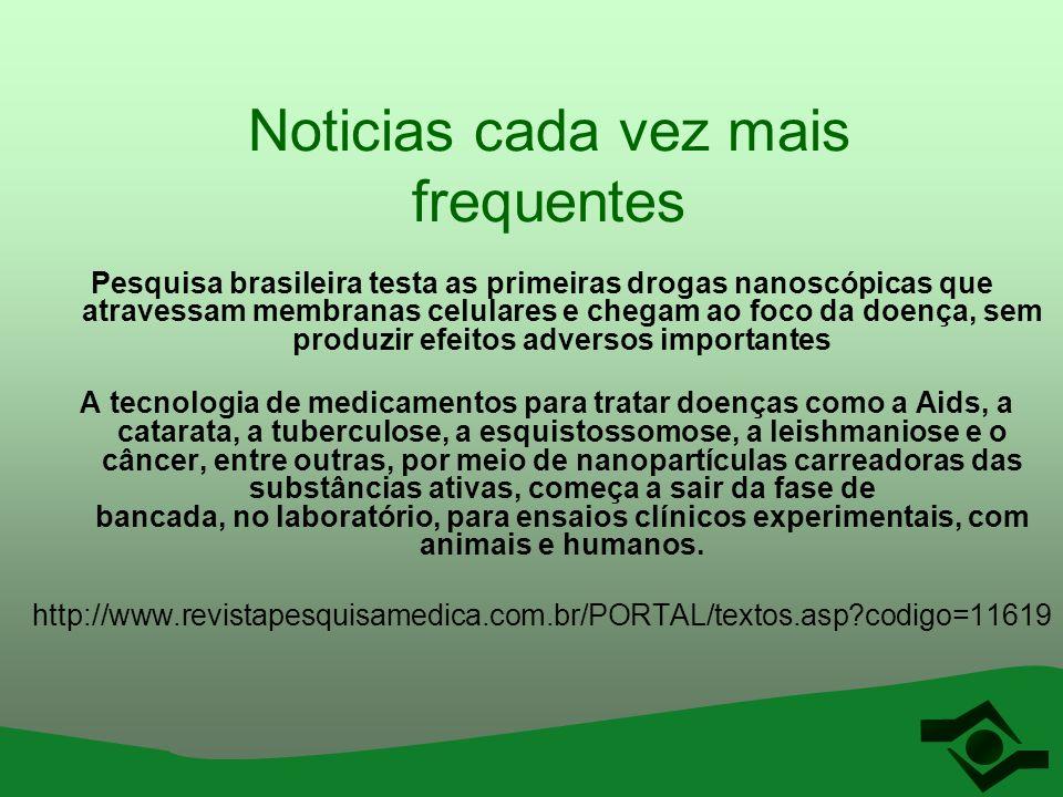 Noticias cada vez mais frequentes Pesquisa brasileira testa as primeiras drogas nanoscópicas que atravessam membranas celulares e chegam ao foco da do