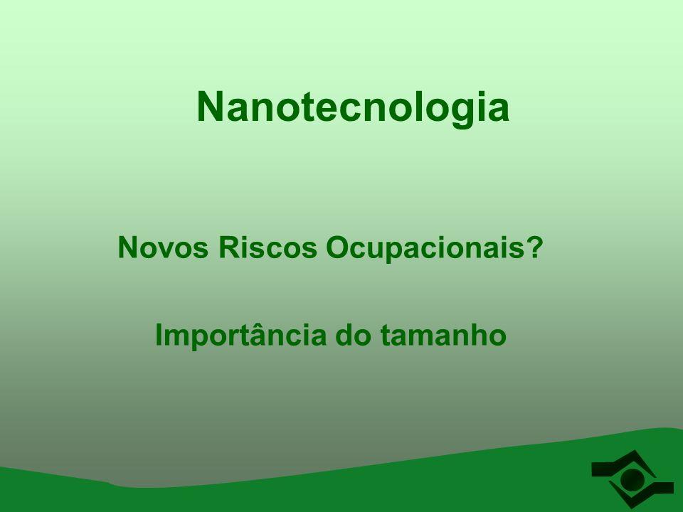 Nanotecnologia Novos Riscos Ocupacionais? Importância do tamanho